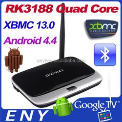 RK3188 Android 4.2 Smart tv stick Dual Wifi 2GB/8GB Quad Core CS918 Remote Control Mini PC Android4.4 TV box