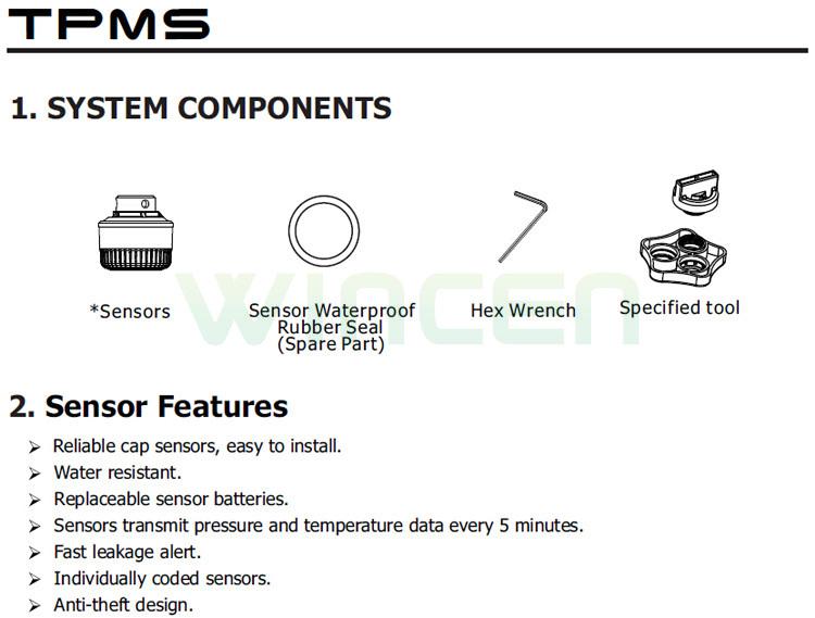installing of external sensor