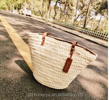 new 2014 corn husk straw bag women fashion natural color tote bag