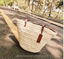 new 2015 corn husk straw bag women fashion natural color tote bag