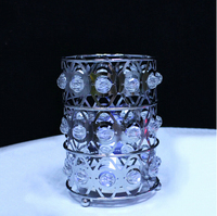 Crystal Bead Candle Holder,Wedding Table Candle Holder