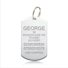 Yiwu Aceon DOG TAG ENGRAVED SMALL MEDIUM LARGE STAINLESS STEEL PET ID IDENTITY Tag