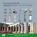 pedestales de la columna