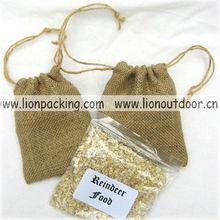 Burlap bags packing vegetable flower seeds