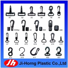 wholesaler plastic swivel snap hook hanger for bag or backpack