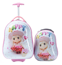 360 rotary wheels bight color kids luggage on sale