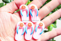 flatback Shoes shaped cake resin foods for phone decoration
