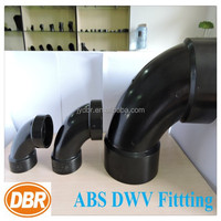 asb fittings 1/4 bend 2 inch with CUPC certificate plastic pipe fitting ABS dwv drainage pipe fittings