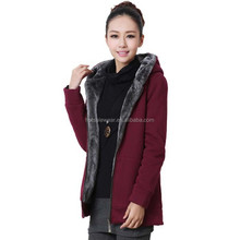Wholesales Fur Lined Winter Women Coat With Hood PW-YLBB.9059