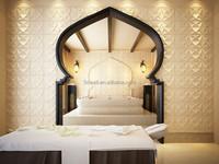 2015 elegant new designed building material bamboo decoration emboosed 3D wallpaper