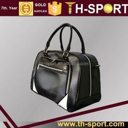 luxury black pu leather golf bag golf boston bag factory
