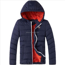 Men puffy jacket for winter sport wadding jacket