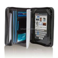 Multifunction hot sale modeling notebook leather portfolio case for ipad 2