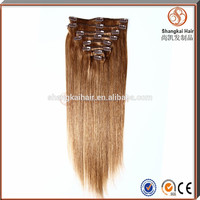 Top Quality Clips Hair Extensions 26 Inch 160g 100% Human Hair Remy hair extension clip in