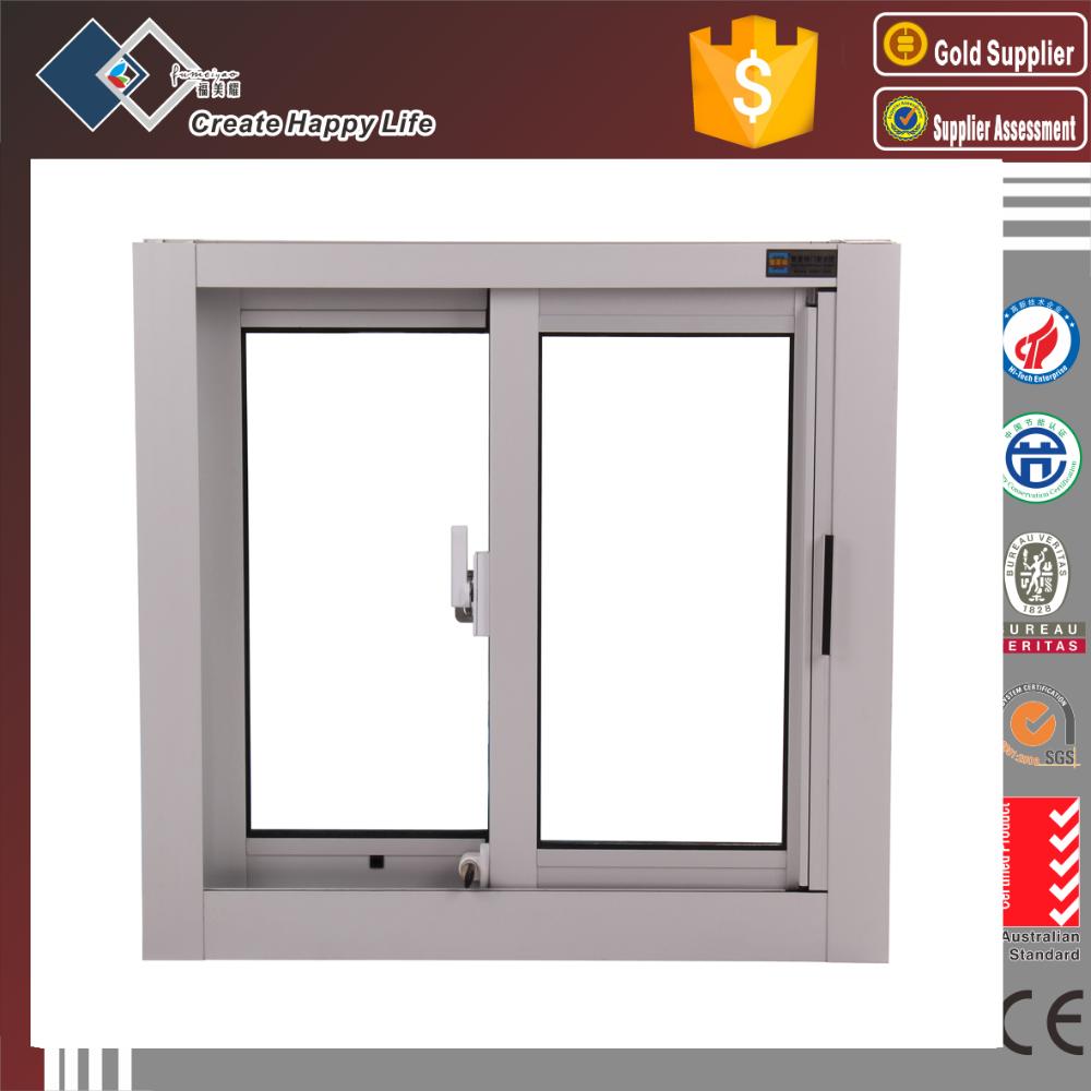 Australian standard double glazed aluminum frame vertical for 2 window