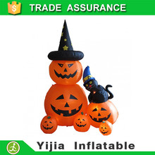 1.5 Meters High Halloween 6 Pumpkin Cat Lights Inflatable Party Gift to Kids