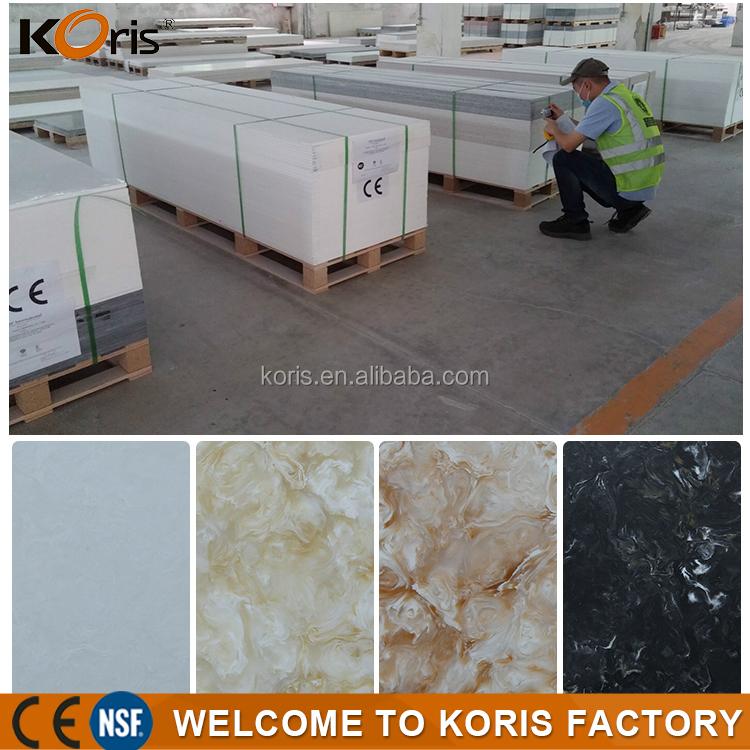 Pas cher prix cuisine décoratif couleurs artificielle marbre acrylique solide feuille de surface