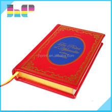 square edge text with gilding in gold finishing leather hardcover book printing