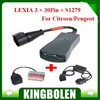 Full Set Lexia 3 V48 Lexia3 Citroen Peugeot Diagnostic Scanner with 30pin cable & S1279 cable