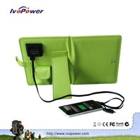 Hot sell 7W portable folding solar charger, broken solar panel for sale