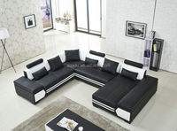2015 leather lounge sofa fashion inflatable air cushion corner functional sofa