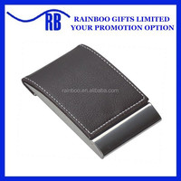 Hot selling cheap logo printed pocket leather business card holder