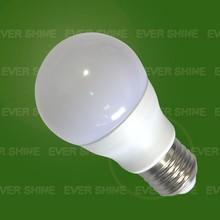 7W closed aluminium plastic LED Bulb Aluminium inside