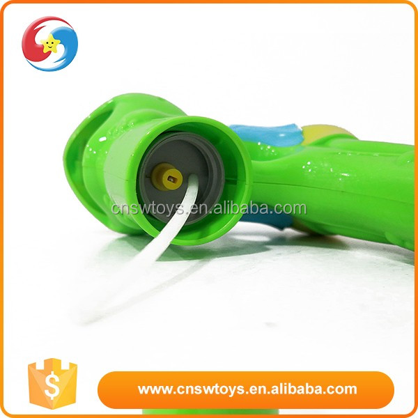 Plastic b/o cartoon animal frog bubbles gun toy with light and music