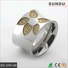 Custom products fashion silver color stone finger ring jewelry