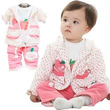 C82661A Autumn 3pcs girl clothing set/girls floral sets