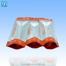 zipper silver plastic foil bag Aluminum Foil packaging Bag/ Aluminum Foil bag /Aluminum foil zip lock bag
