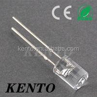 5mm flat top yellow led diode (5PY3UC09)