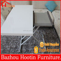 White Mdf Wooden Folding Side Dining Table Chating Desk ATK-16