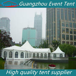 High quality wind load PVC white outdoor gazebo tent for restaurant