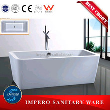 Cheap price Rectangular comfortable luxury massage acrylic bathtub for adult