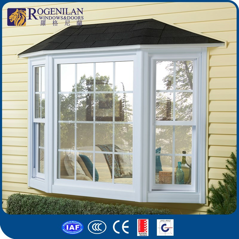 Rogenilan factory customized aluminum bay windows for sale for Buy new construction windows online