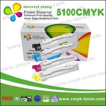 Printer laser toner cartridge 5100C/M/Y/K, compatible for DELL laser jet C5100CN, full cartridge's status, with chip