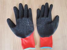 13 Gauge Industrial crinkle latex coated gloves