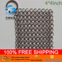 4*4inch AISi 316 Iron cast pot scrubber cleaning