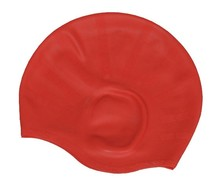silicone women swimming ear cap for long hair