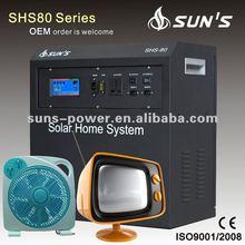 Quailty alta 80 W 100 W 200 W sistema de energía solar portátil para small homes