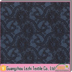 Wholesale Jacquard Nylon Stretch Black Lace Fabric For Underwear