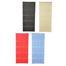 2015 Ikea Style Fabric Hanging Shoe Closet Storage Bag Colorful Over The Door Shoe Organizer