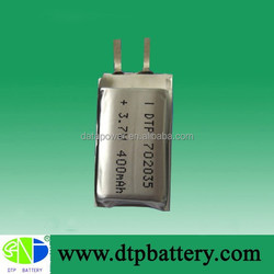 wireless headset li-ion battery cell for MP3, MP3 battery