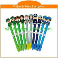 diy cartoon polymer clay ball pen chain pen
