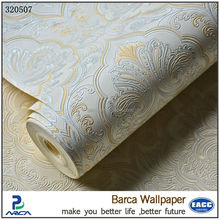 Barca 3205 series vintage luxury damask wall paper pvc embossed textured wallpaper roll home decoration wallpaper