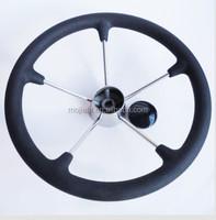 NEW 5 Spoke With PU Foam 15.5 inch Stainless Steel Boat Steering Wheel