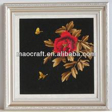 Carbón activado decoración de la casa imágenes( mariposas con flores) artesanías como para regalos de año nuevo