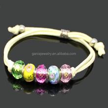 Wholesale Costume Jewelry Bracelets, Murano Glass European Bead Bracelet Gift