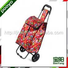 leisure supermarket shopping cart/bag american style shopping trolley